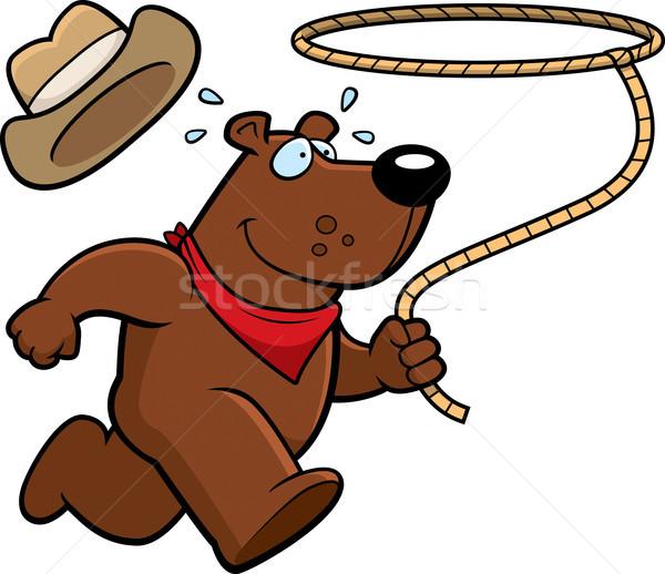 ロデオ クマ 幸せ 漫画 を実行して ストックフォト © cthoman