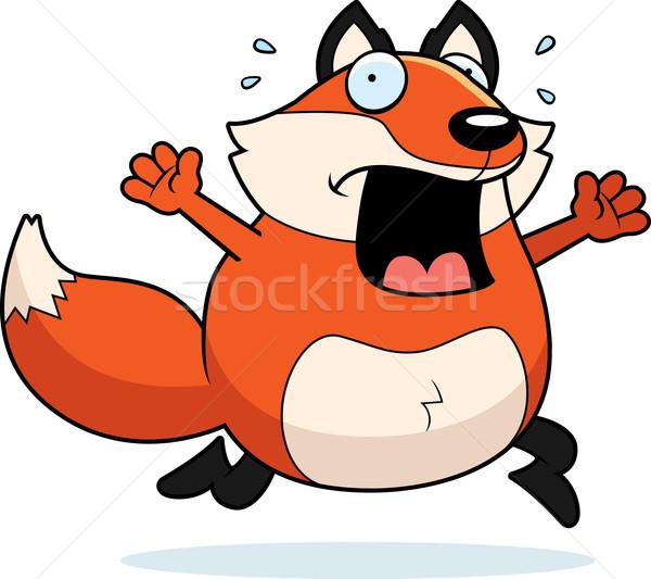 漫画 キツネ パニック を実行して 動物 怖い ストックフォト © cthoman