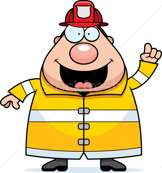 Cartoon Fireman Idea Stock photo © cthoman