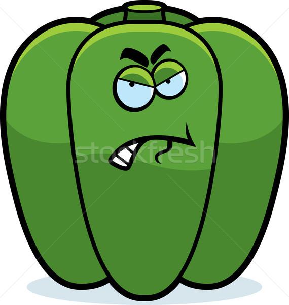 Karikatür öfkeli biber örnek yeşil Stok fotoğraf © cthoman