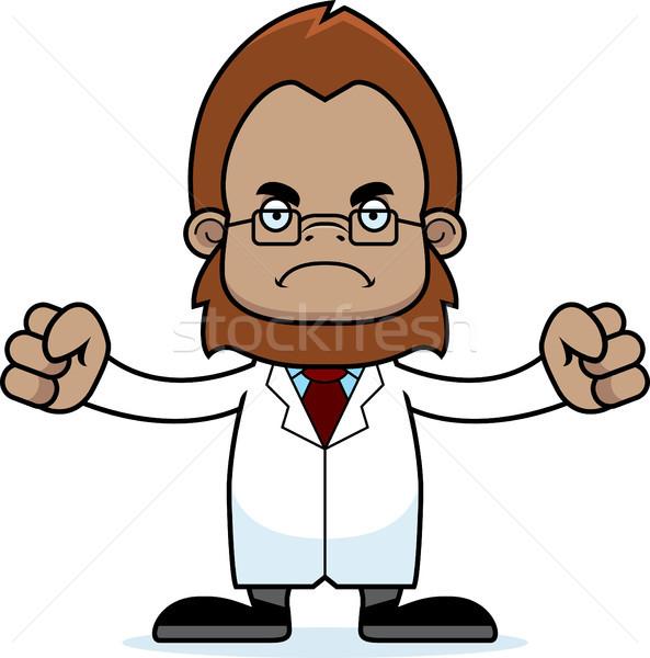 Cartoon Angry Scientist Sasquatch Stock photo © cthoman
