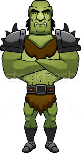 Cartoon Orc Arms Crossed Stock photo © cthoman