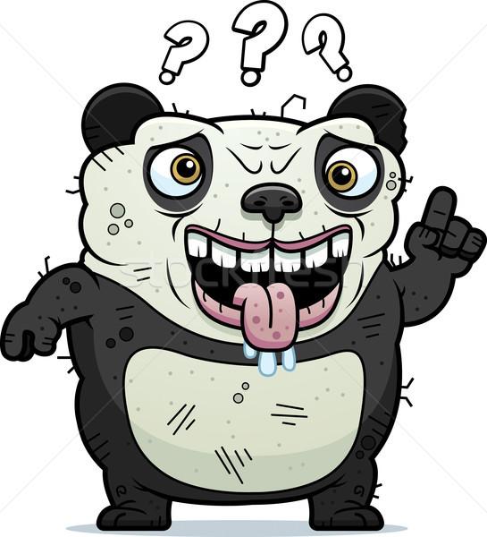 Confused Ugly Panda Stock photo © cthoman