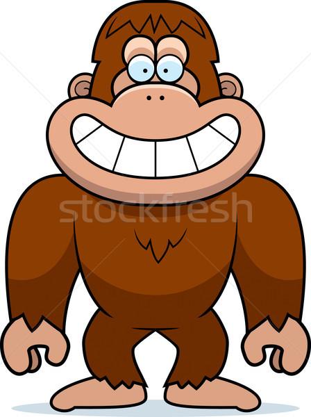 Karikatur grinsend Illustration glücklich lächelnd Vektor Stock foto © cthoman