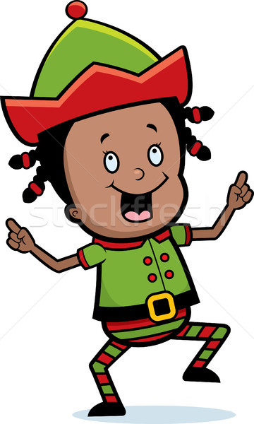 Christmas Elf Dancing Stock photo © cthoman