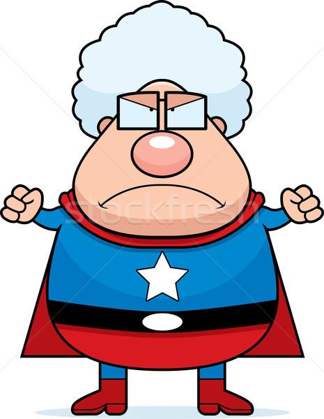 Superhero Grandma Angry Stock photo © cthoman