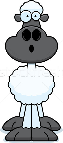 étonné cartoon moutons illustration regarder Photo stock © cthoman