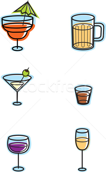 Alcohol Icons Stock photo © cthoman