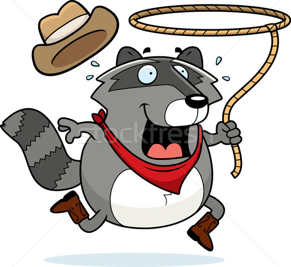 Rodeo Raccoon Stock photo © cthoman