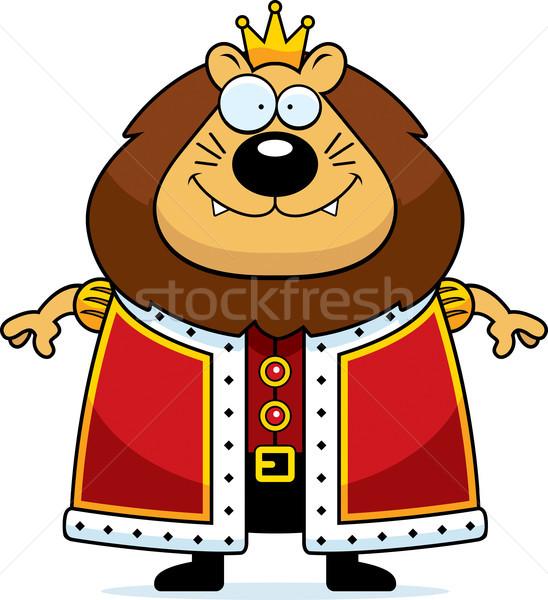 Cartoon Lion King Stock photo © cthoman