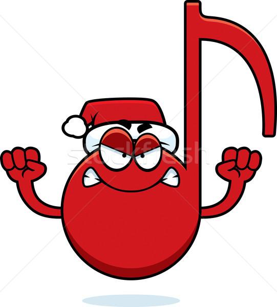 Arrabbiato cartoon Natale musica illustrazione Foto d'archivio © cthoman