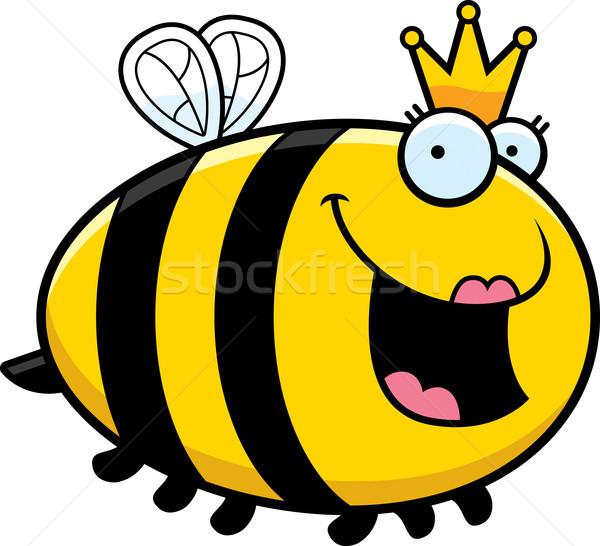 Desenho animado rainha abelha ilustração coroa animal Foto stock © cthoman