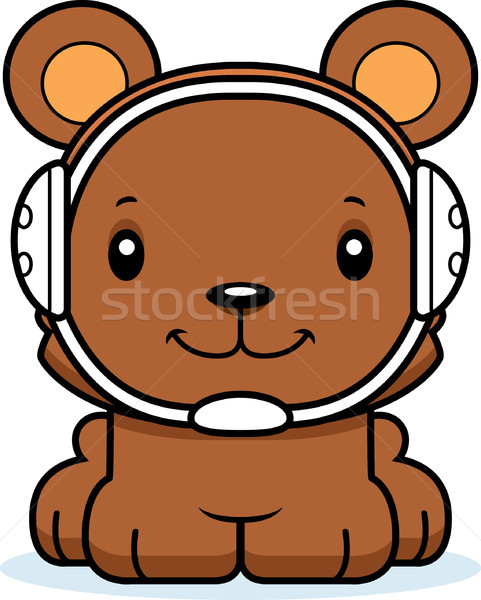 漫画 笑みを浮かべて レスラー クマ 幸せ ストックフォト © cthoman
