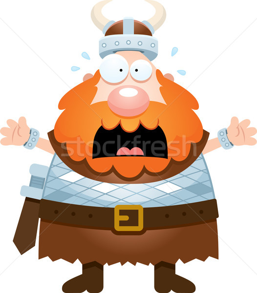Scared Cartoon Viking Stock photo © cthoman