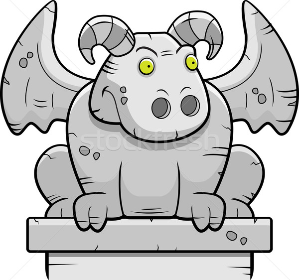 Gargoyle Perched Stock photo © cthoman