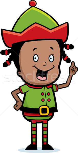 Navidad elfo idea feliz Cartoon Foto stock © cthoman