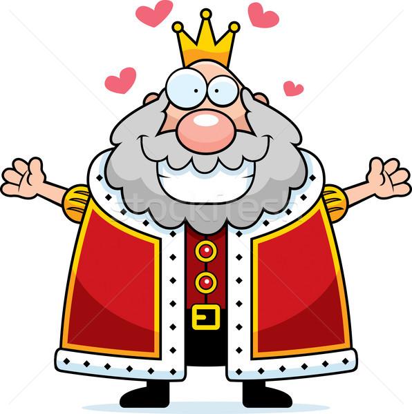 Cartoon King Hug Stock photo © cthoman