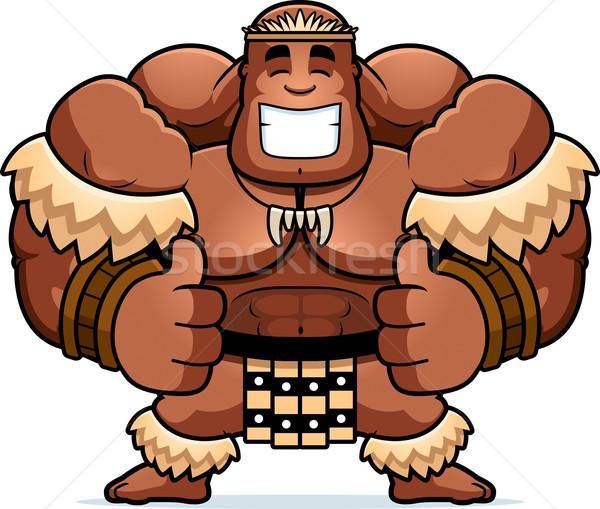 Cartoon guerrier illustration hommes personne Photo stock © cthoman