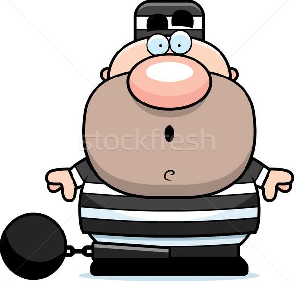 Cartoon sorprendido preso ilustración mirando hombre Foto stock © cthoman