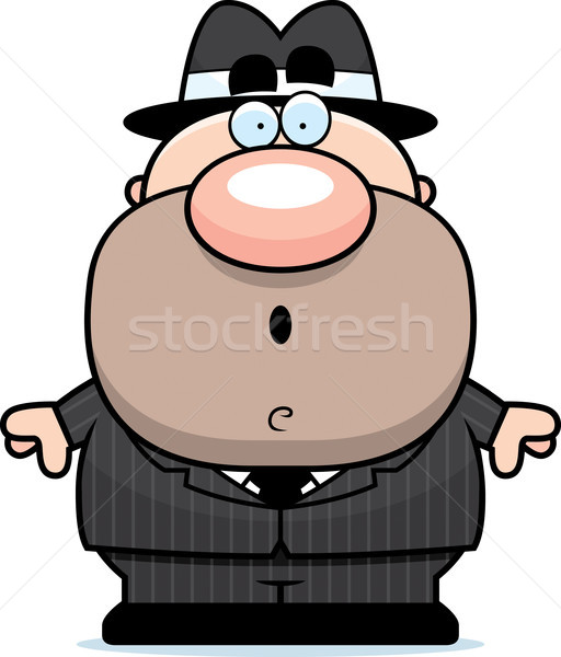 Surprised Cartoon Mobster Stock photo © cthoman