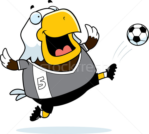 Cartoon águila fútbol patear ilustración calvo Foto stock © cthoman