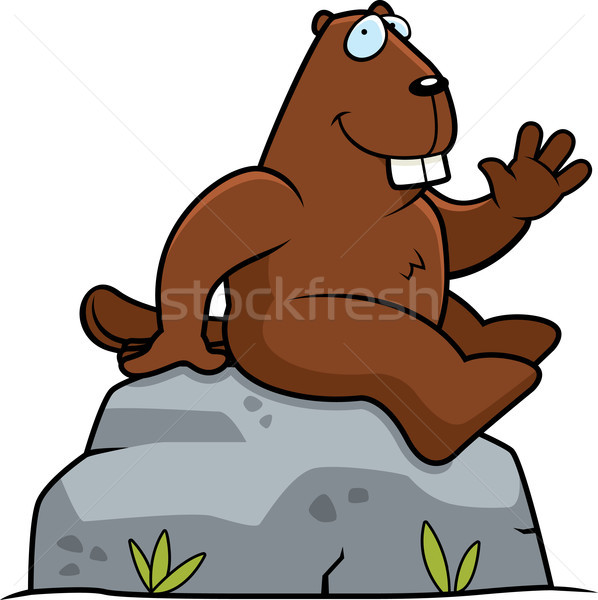 Beaver Sitting Stock photo © cthoman