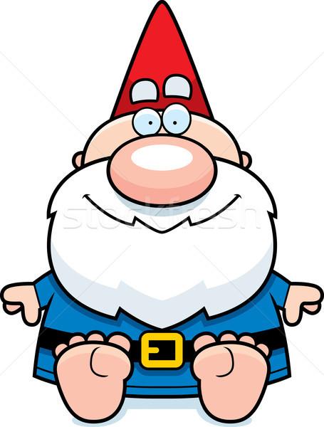 Karikatür cüce oturma örnek adam Stok fotoğraf © cthoman
