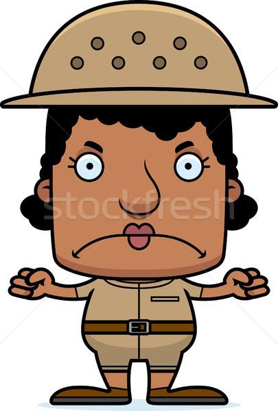 Cartoon Angry Zookeeper Woman Stock photo © cthoman