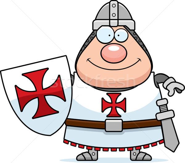 Happy Cartoon Templar Stock photo © cthoman