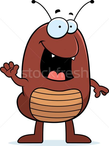 Cartoon Flea Waving Stock photo © cthoman