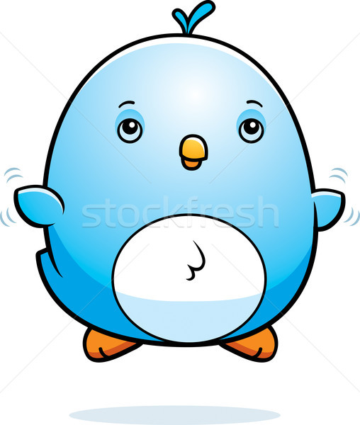 Cartoon Baby Bluebird Fly Stock photo © cthoman