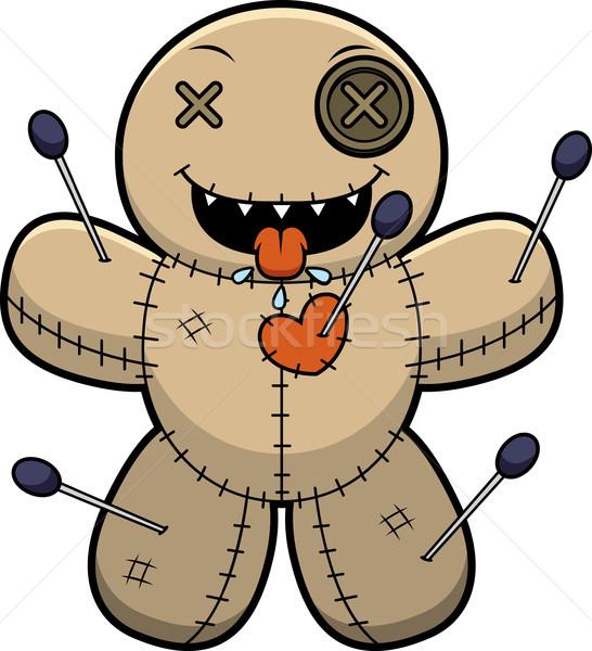 Hungry Cartoon Voodoo Doll Stock photo © cthoman
