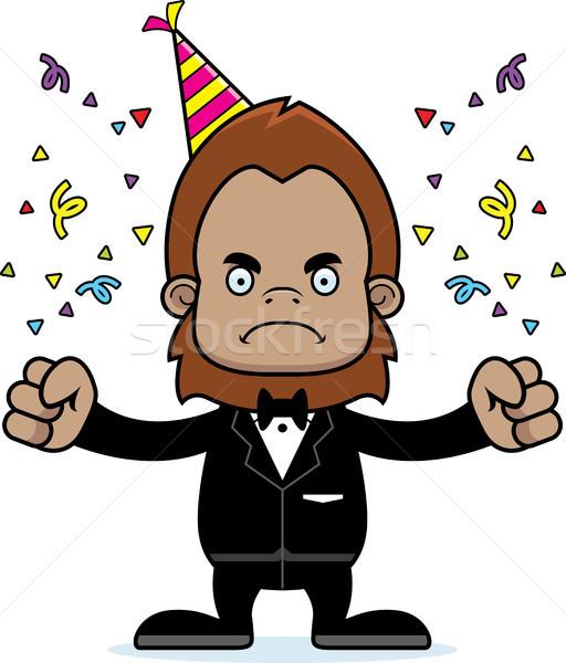 Cartoon Angry Party Sasquatch Stock photo © cthoman