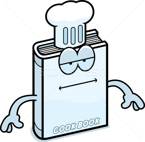 Cartoon Cookbook Bored Stock photo © cthoman