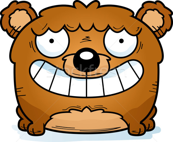 Cartoon Bear Cub Smiling Stock photo © cthoman