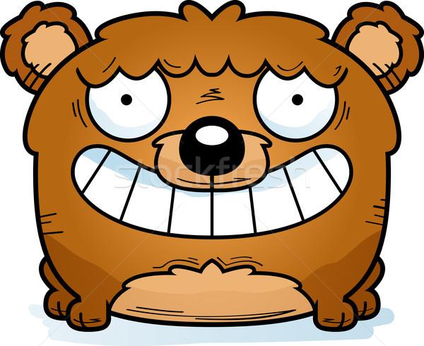 Cartoon beer welp glimlachend gelukkig Stockfoto © cthoman