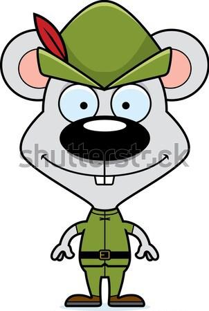 Cartoon Smiling Robin Hood Robot Stock photo © cthoman