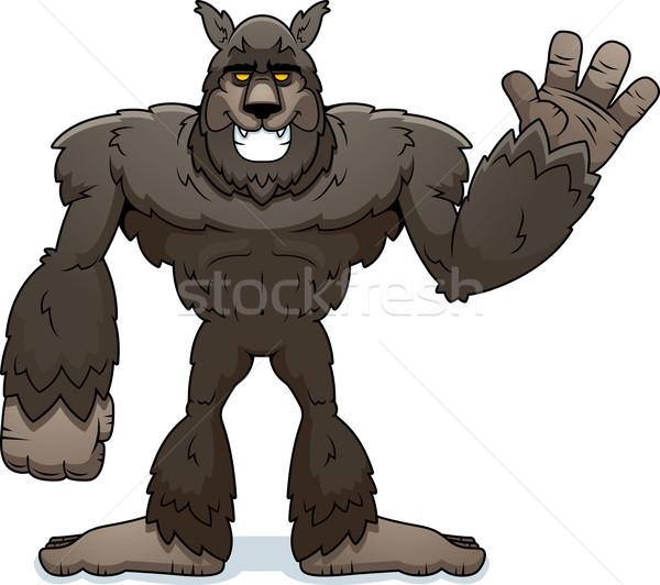 Cartoon оборотень иллюстрация животного монстр Сток-фото © cthoman