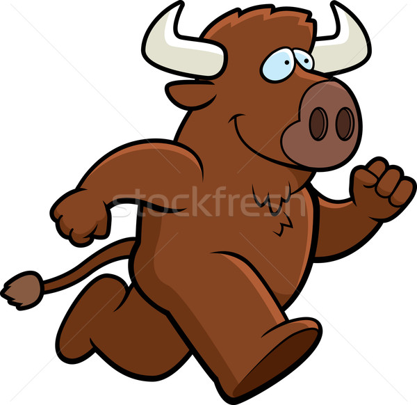 Buffalo Running Stock photo © cthoman