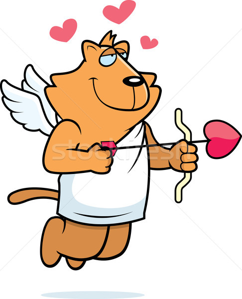 Cupid Cat Stock photo © cthoman