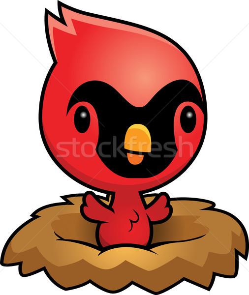 Cartoon nest illustratie baby vogel dier Stockfoto © cthoman