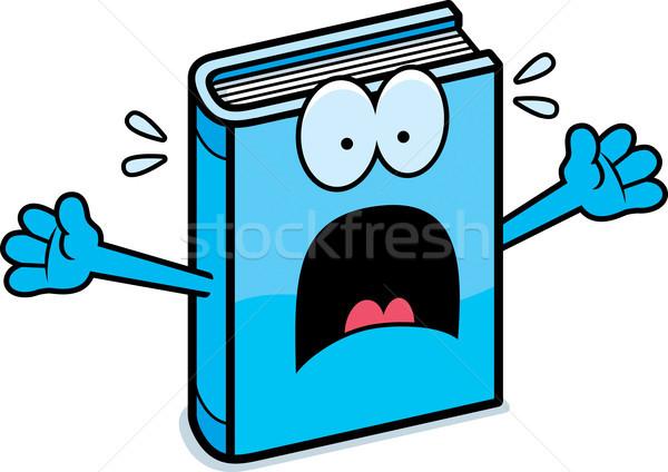 Bać cartoon książki ilustracja patrząc graficzne Zdjęcia stock © cthoman