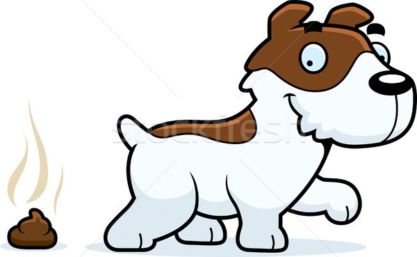 Cartoon Jack Russell Terrier Poop Stock photo © cthoman