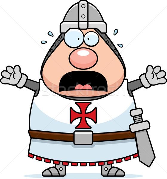 Scared Cartoon Templar Stock photo © cthoman
