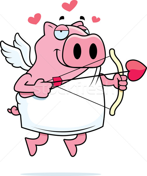 Pig Cupid Stock photo © cthoman