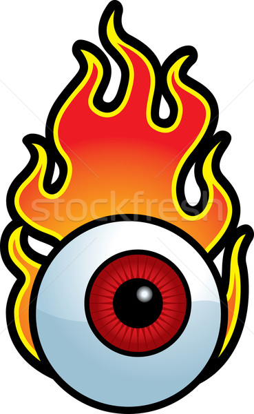 燃えるような 眼球 漫画 赤 難 ストックフォト © cthoman