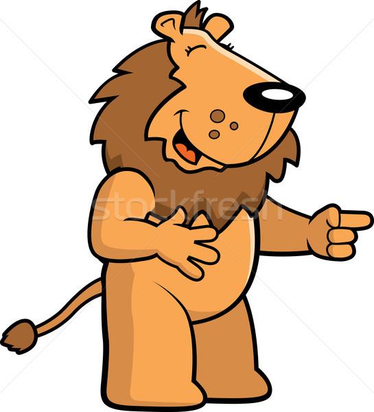 Lion Laughing Stock photo © cthoman