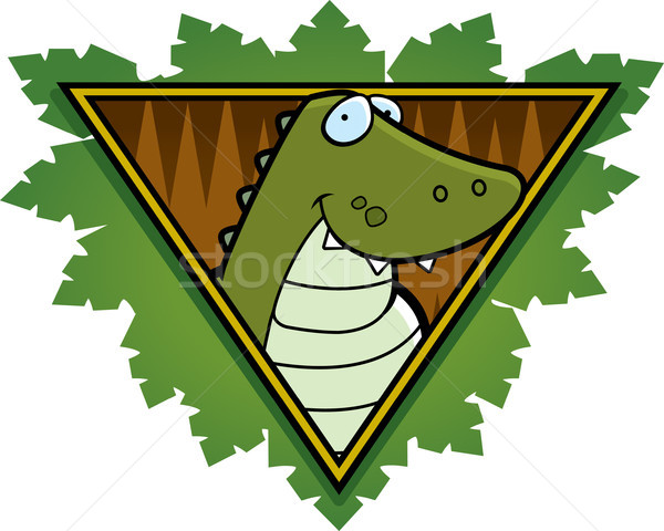 Crocodile Safari Icon Stock photo © cthoman
