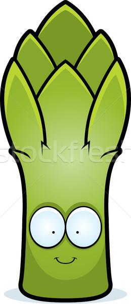Cartoon asparagi sorridere illustrazione fiocina grafica Foto d'archivio © cthoman