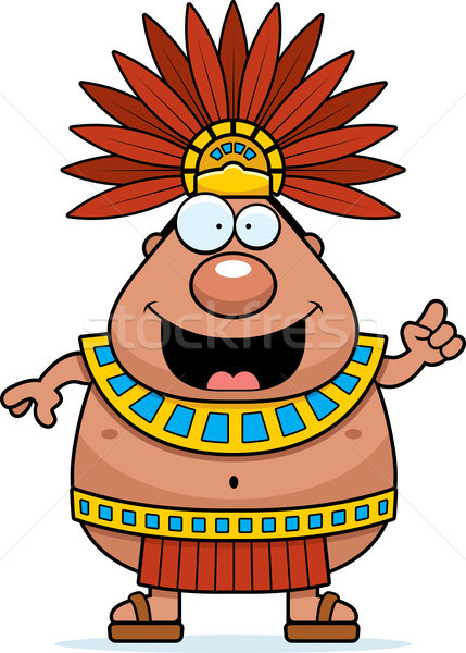 Cartoon Aztec King Idea Stock photo © cthoman